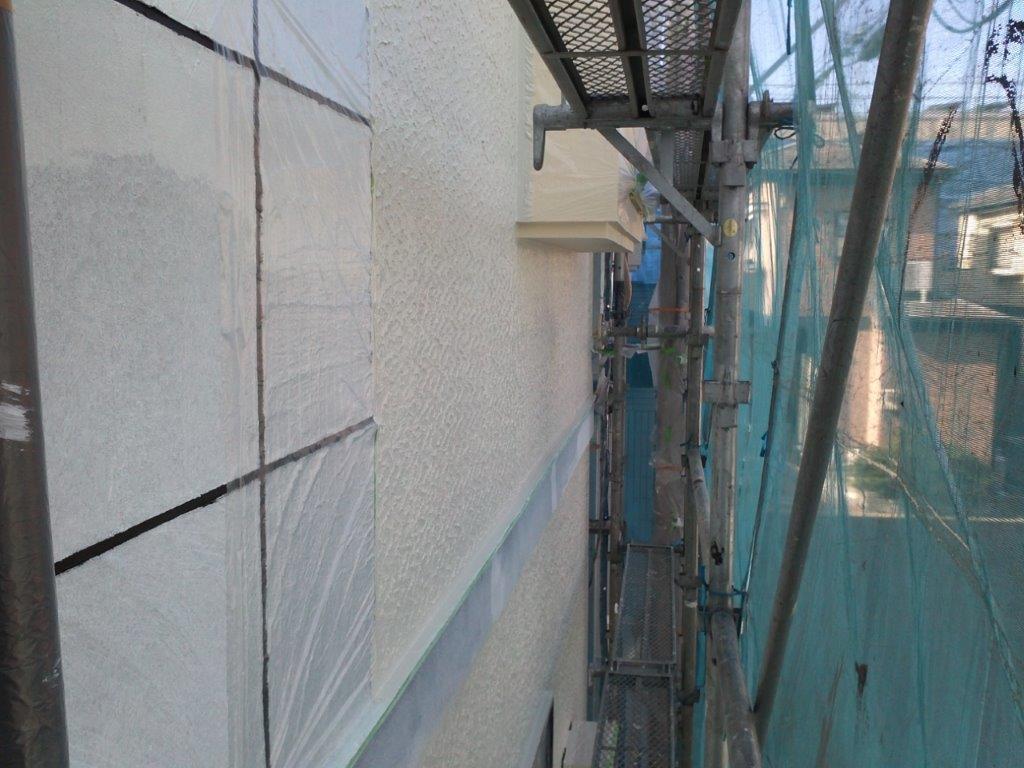 外壁の上塗り修了