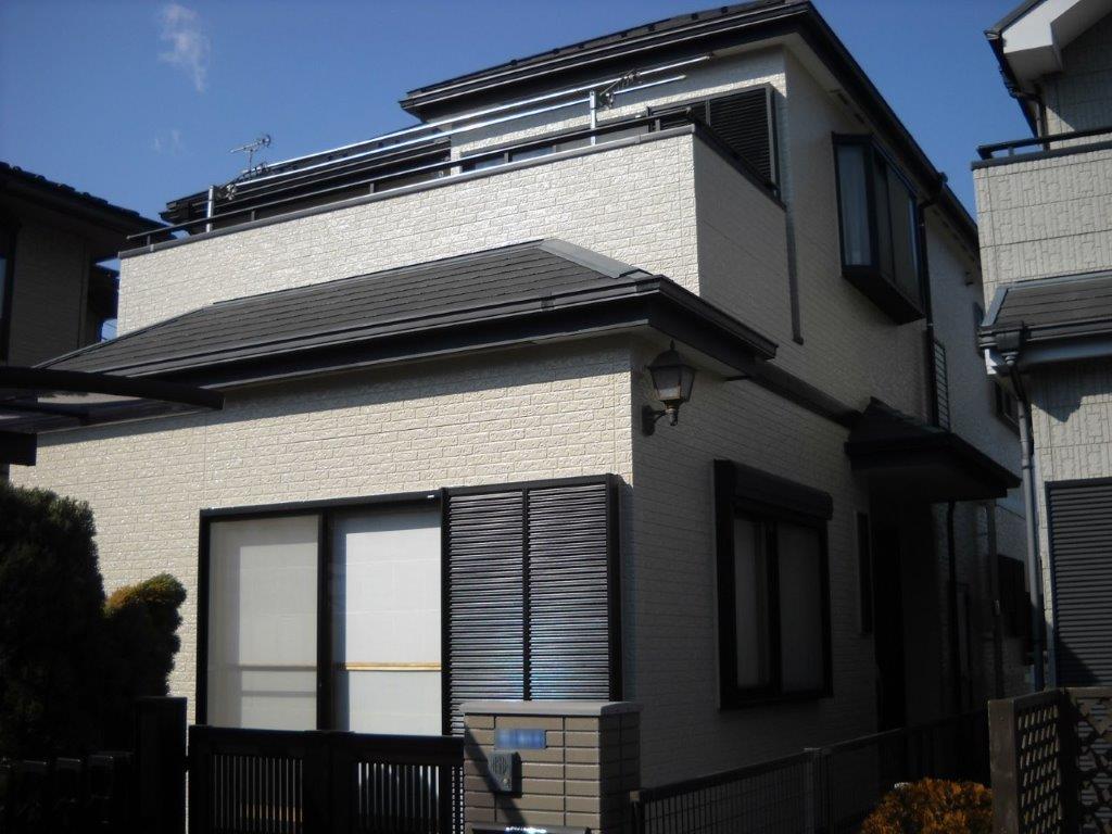 外壁・付帯部の塗装工事完工