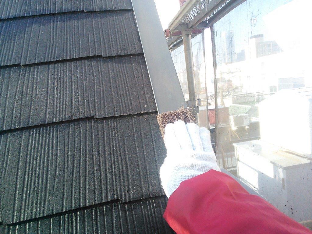 屋根 板金部のケレン