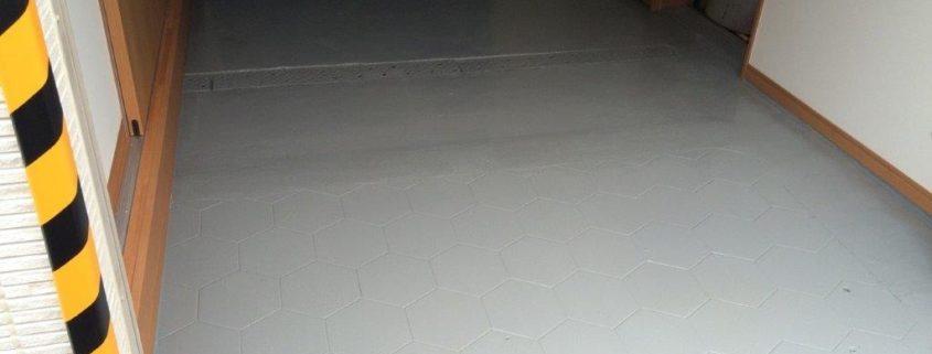 床塗装完工