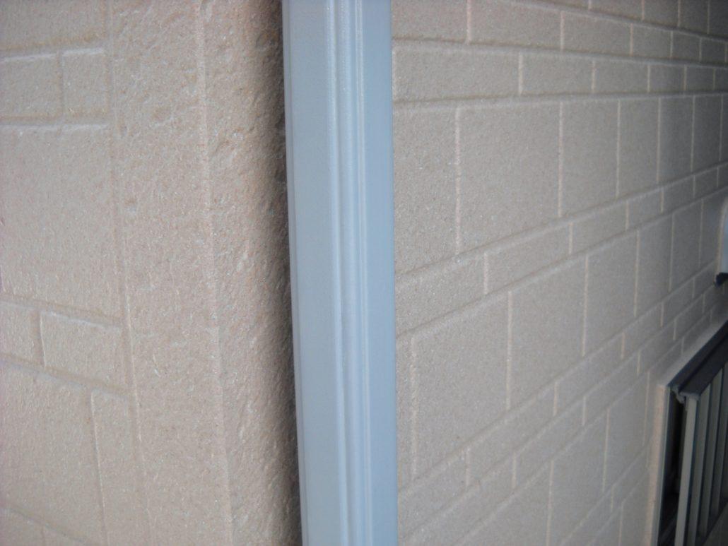 雨樋の中塗り修了