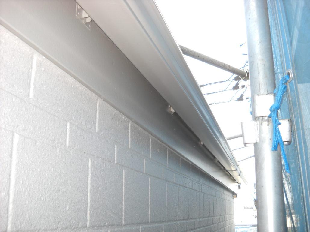 雨樋の上塗り修了