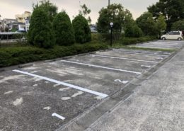 駐車場のライン引き塗装完工