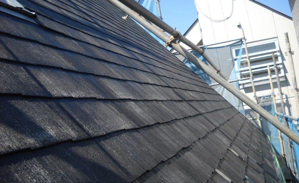 屋根の下塗り塗装 修了