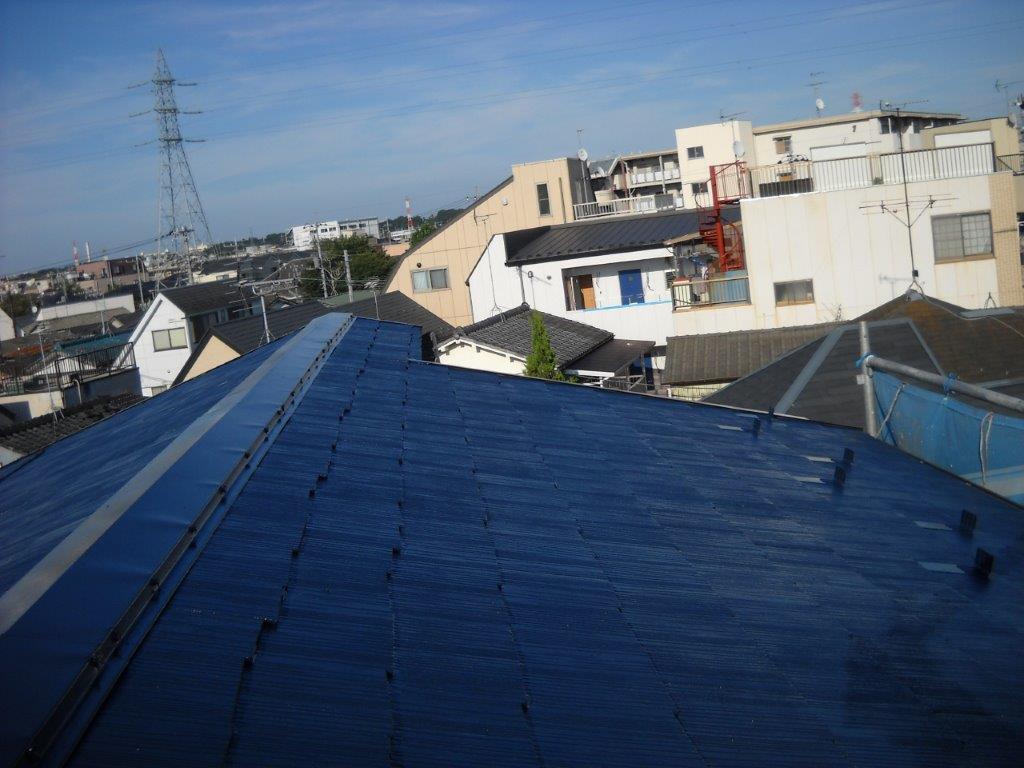 屋根の上塗り塗装 修了