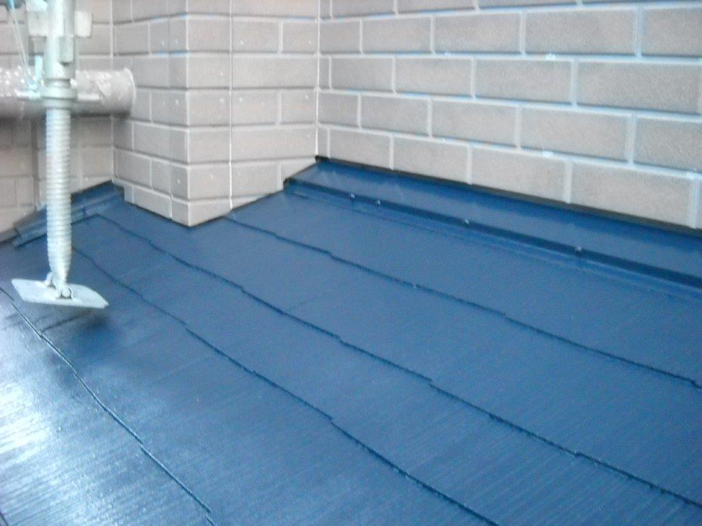 屋根塗装完工