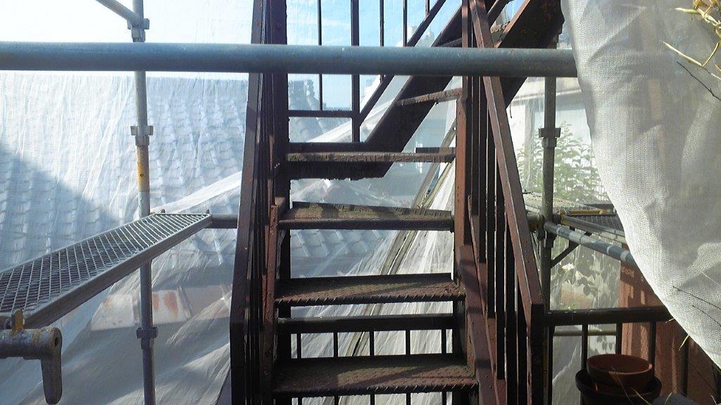 鉄部の施工前の状態