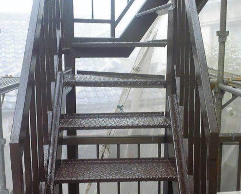 鉄部の塗装工事完工