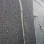 外壁の下塗り塗装(2回目)