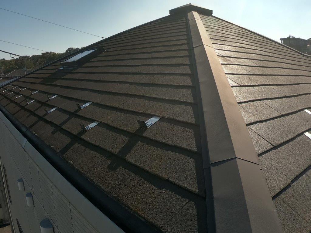 ポールカメラを使って屋根の点検
