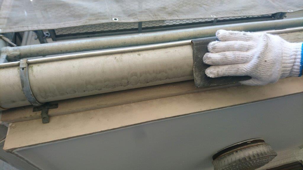 雨樋(縦・横)の補修・塗装工事|葛飾区亀有のE様邸にて塗り替えリフォーム