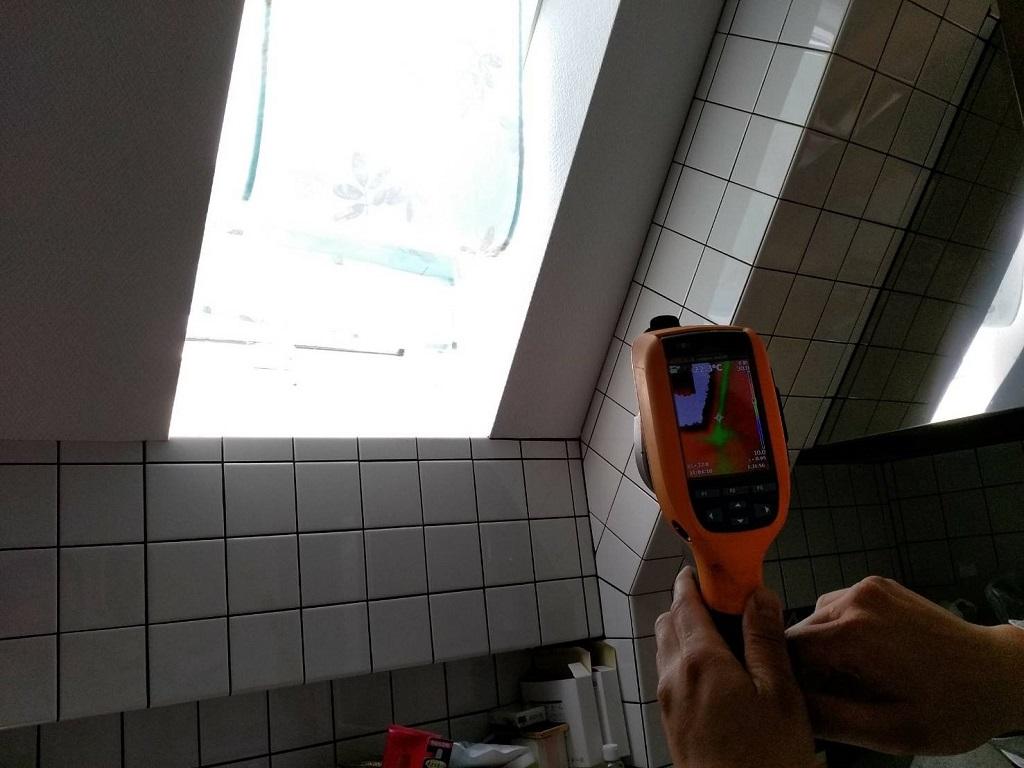 赤外線サーモグラフィーによる雨漏り調査