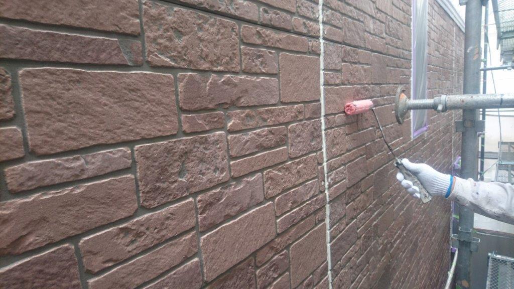 外壁のシーラー塗装