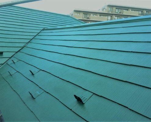 屋根の塗装工事後