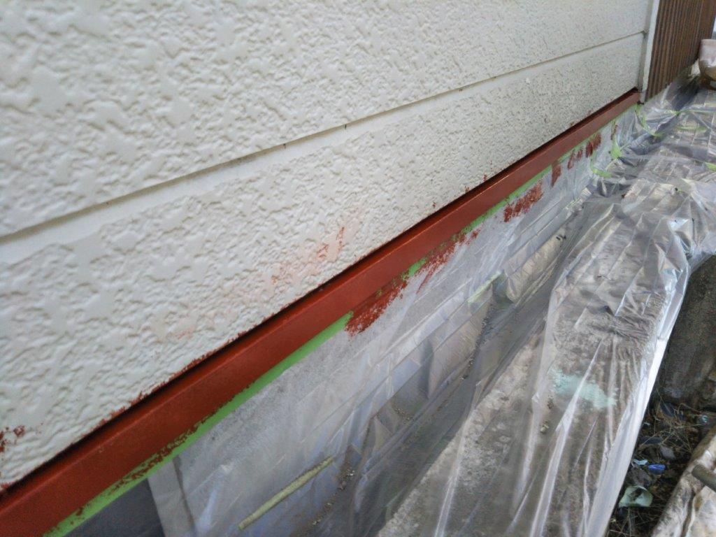 水切りの下塗り塗装修了