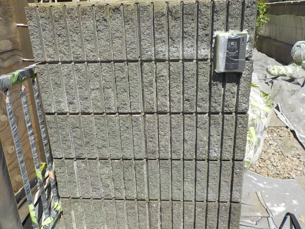 門柱のシーラー塗装修了