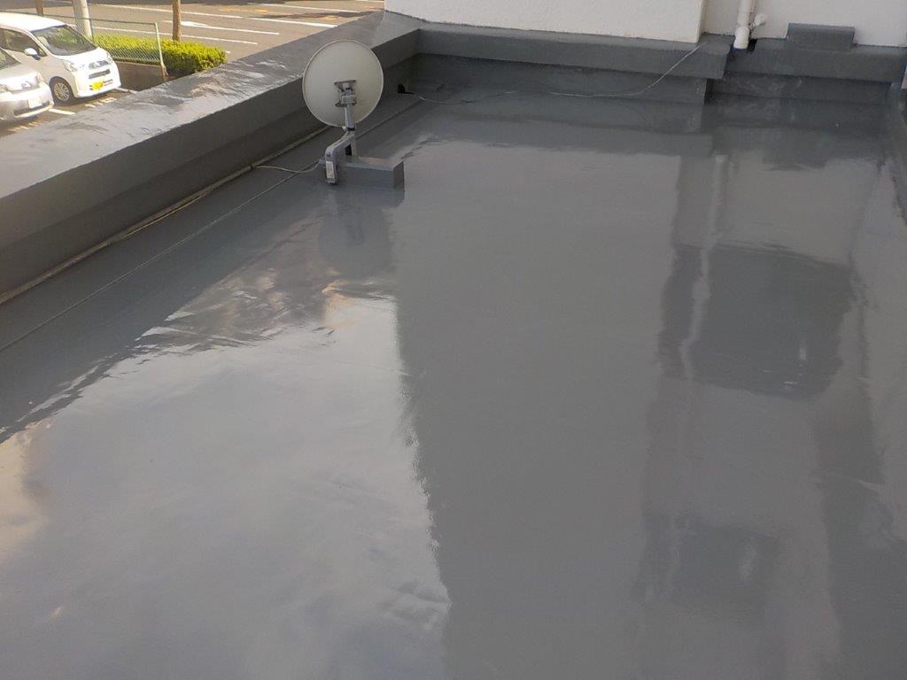 屋上防水完工