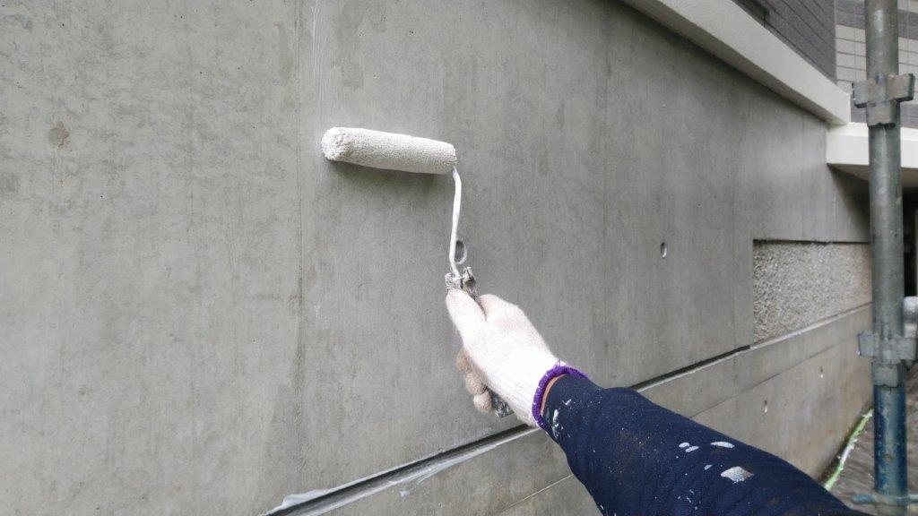 疎水剤 1回目の塗装