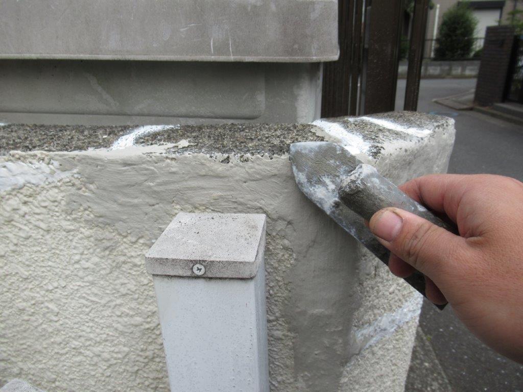 下地調整材のと塗装