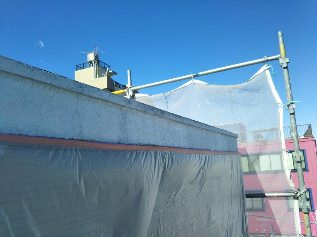 破風板 下塗り塗装後