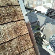 屋根板金部に錆止め塗装