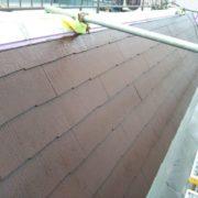 屋根の上塗り塗装後