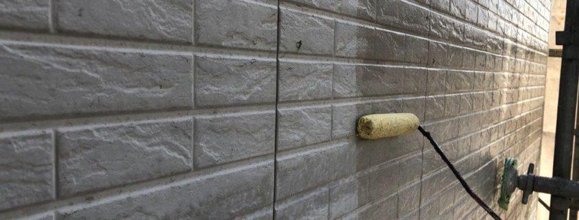 サイディング外壁の床塗装