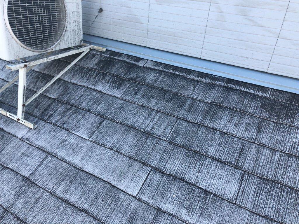 屋根板金部 錆止め塗装後