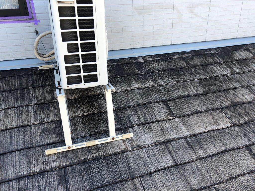 屋根下塗り塗装後
