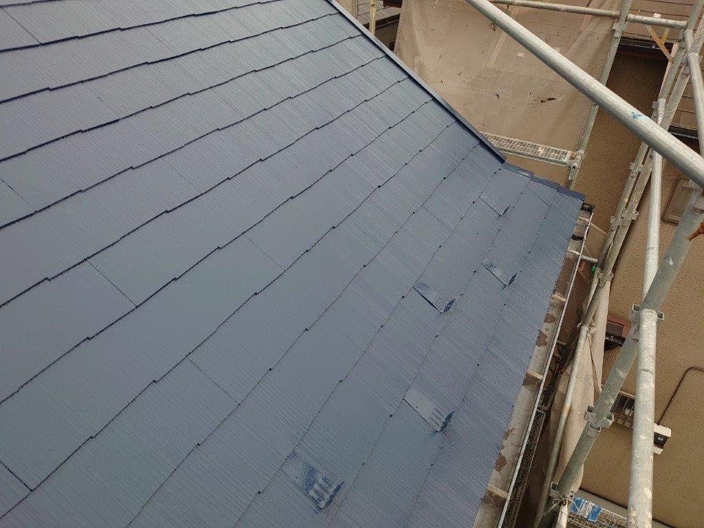 屋根仕上げ塗装後